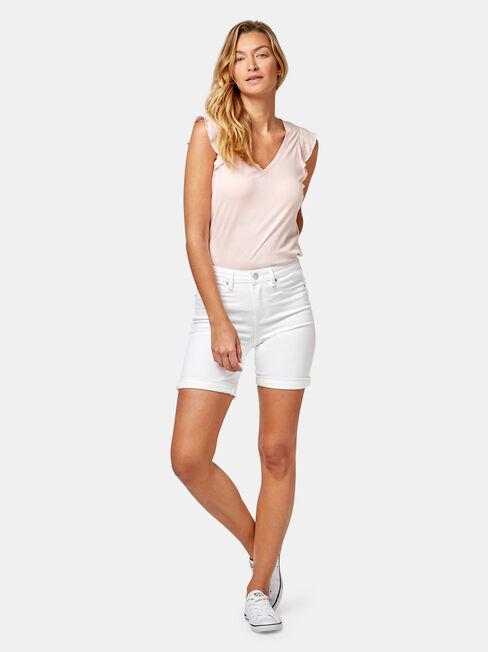 Anika Bermuda Short, White, hi-res