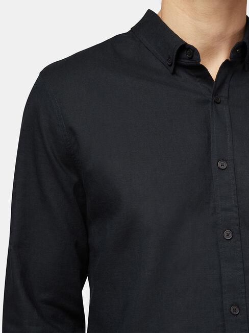 Brody Long Sleeve Textured Shirt, Black, hi-res