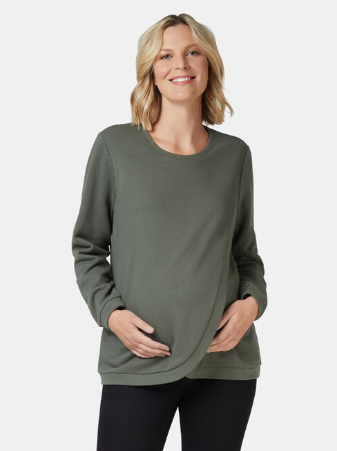 Violet Cross Over Maternity Sweat