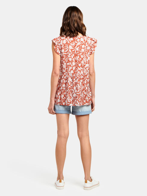 Lory Fril Sleeve Top
