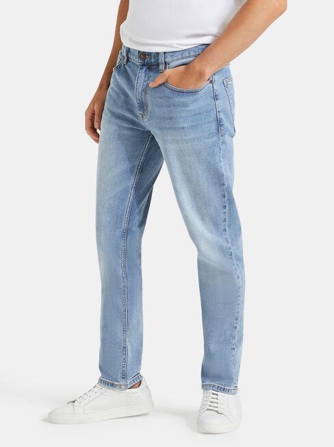 Slim Tapered Jeans Modern Blue, Light Indigo, hi-res