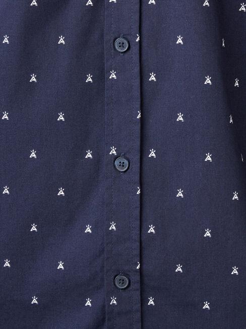 Jensen Long Sleeve Print Shirt, Blue, hi-res
