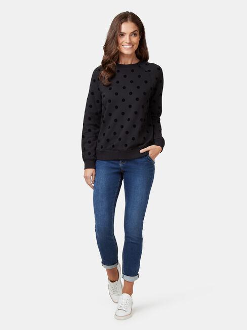Viola Sweatshirt, Black, hi-res
