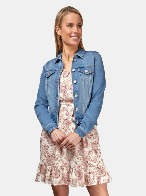 Ellie Luxe Lounge Knit Denim Jacket