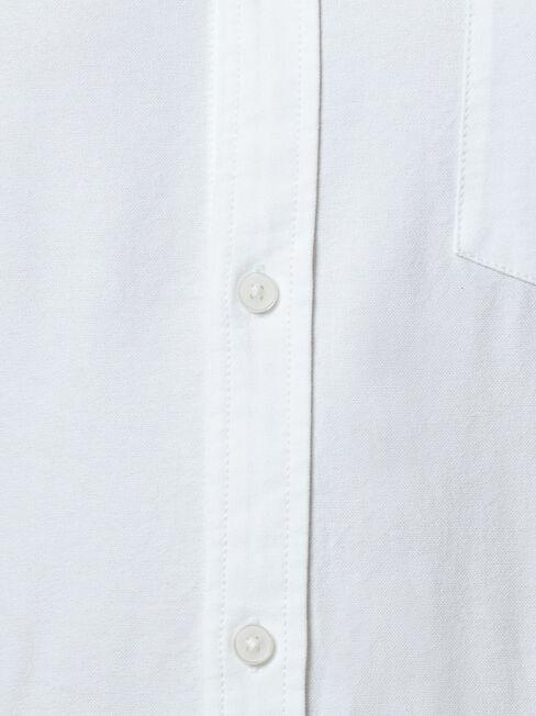 Peyton Long Sleeve Oxford Shirt, White, hi-res