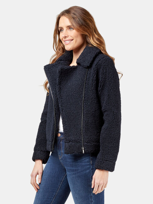 Hillary Teddy Jacket, Blue, hi-res