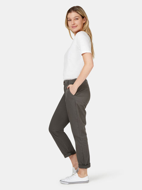 Avril Chino Pant, Green, hi-res