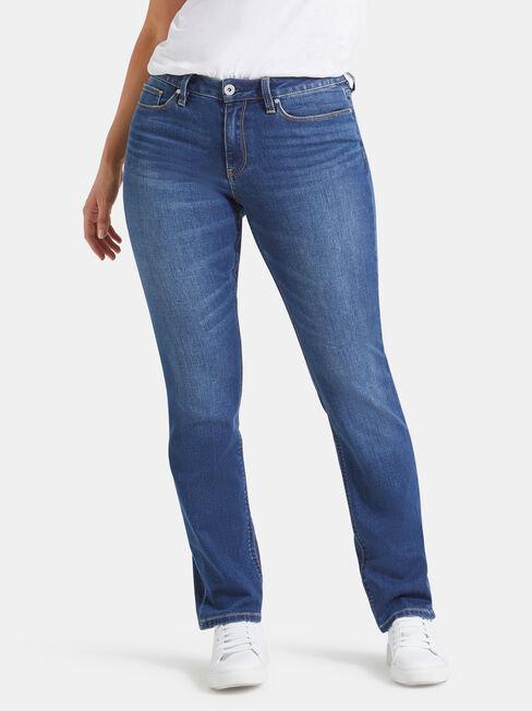 Curve Embracer Slim Straight Jeans Lake Blue