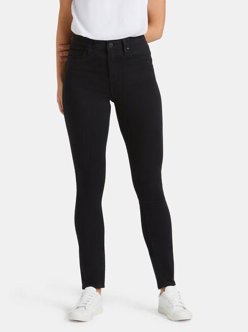 Butt Lifter Skinny Jeans Black Night, Black, hi-res