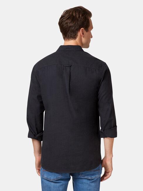 LS Asher Brushed Shirt, Black, hi-res