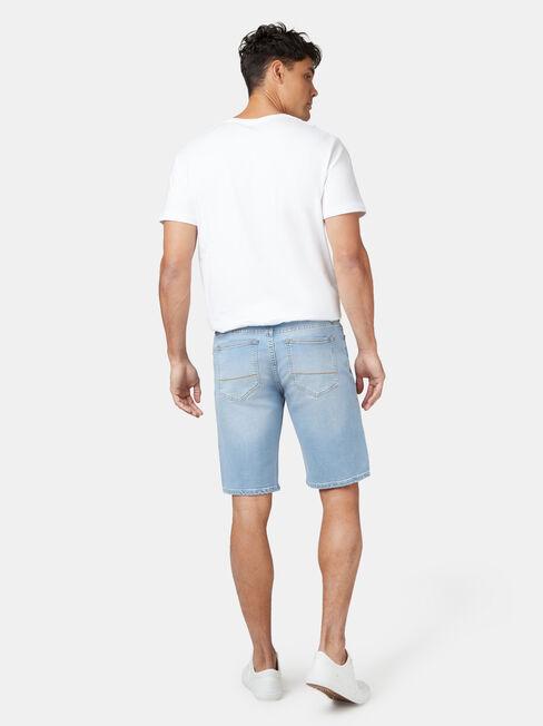Connor Knit Denim Short Summer Blue, Blue, hi-res