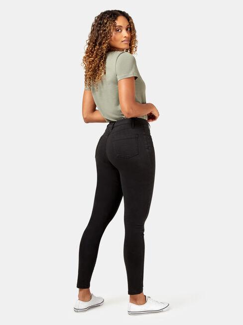 Veronica High Waist Pant, Black, hi-res