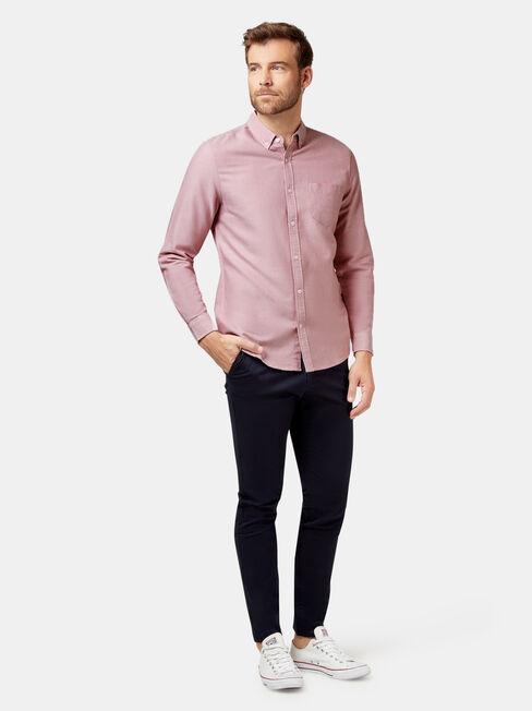 Hayes Long Sleeve Oxford Shirt, Pink, hi-res