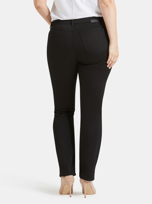 Curve Embracer Slim Straight Jeans Absolute Black