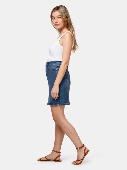 Megan Classic Denim Skirt