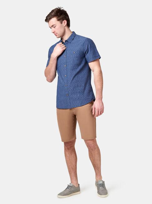 Gus Short Sleeve Textured Shirt, Blue, hi-res