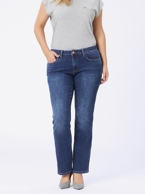 Curve Embracer Bootcut jeans Sea Blue, Mid Indigo, hi-res