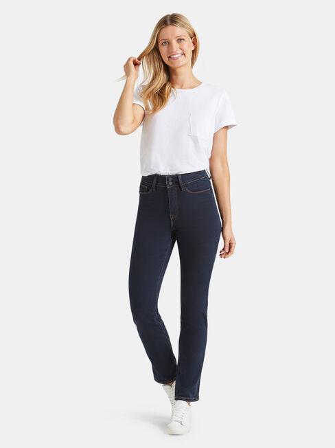 Tummy Trimmer Slim Straight Jeans  Absolute Indigo