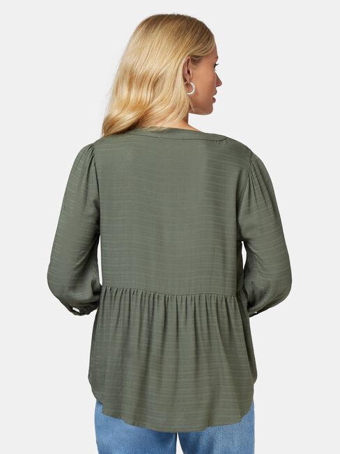 Morgan Textured Blouse, Green, hi-res