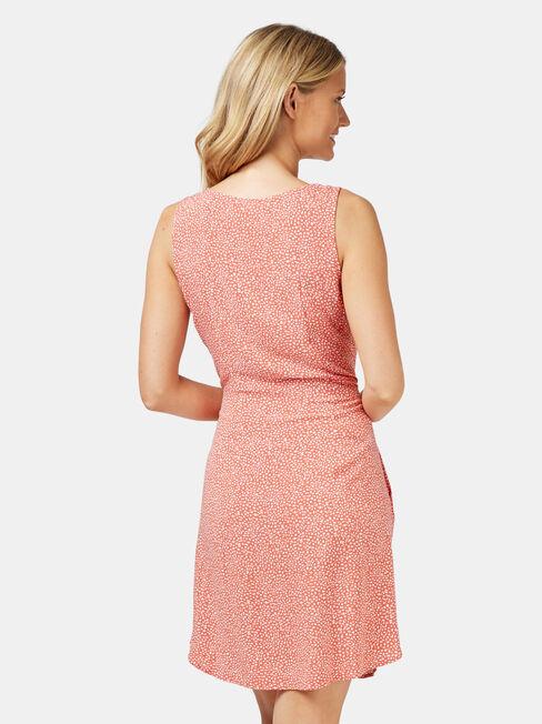 Ariel Button Thru Dress, Orange, hi-res