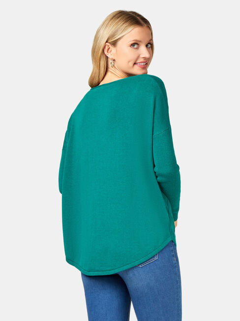 Mia Swing Pullover, Green, hi-res