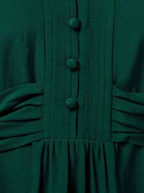 Judy Tie Waist Blouse, Green, hi-res
