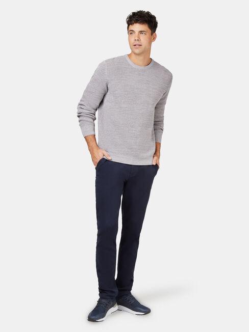 Spencer Textured Crew Knit, Grey, hi-res