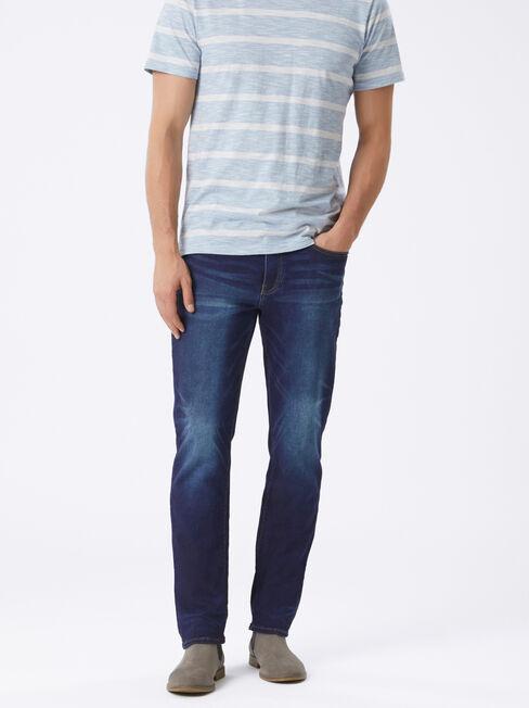 Slim Straight Knit Jeans Dark Indigo