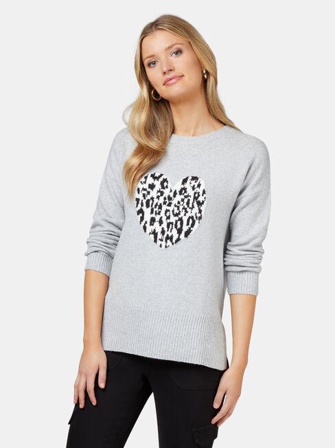 Ceilia Leopard Heart Knit
