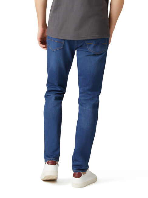 Side Pocket Knit Jean, Mid Indigo, hi-res
