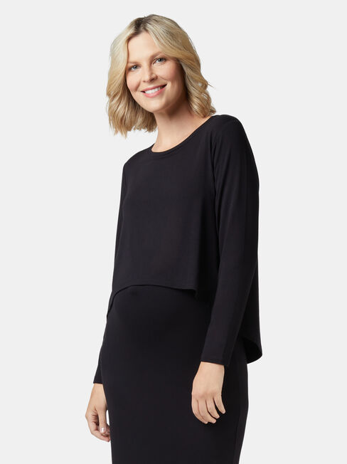 Lina Long Sleeve Maternity Dress