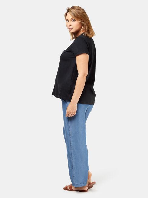 Frances Baby Bump Tee, Black, hi-res