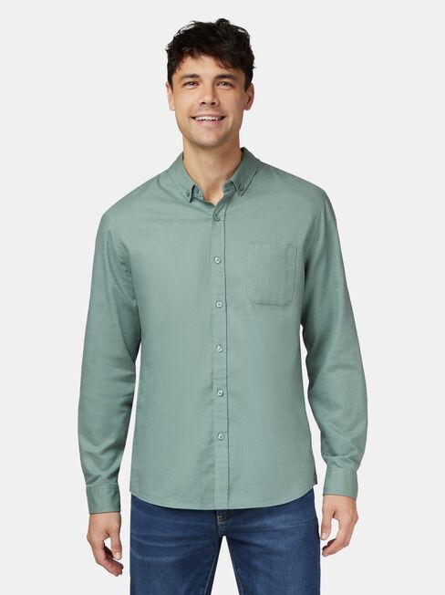 Brody Long Sleeve Textured Shirt, Green, hi-res