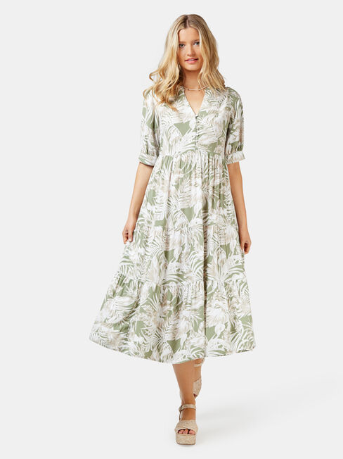 Esther Tiered Midi Dress