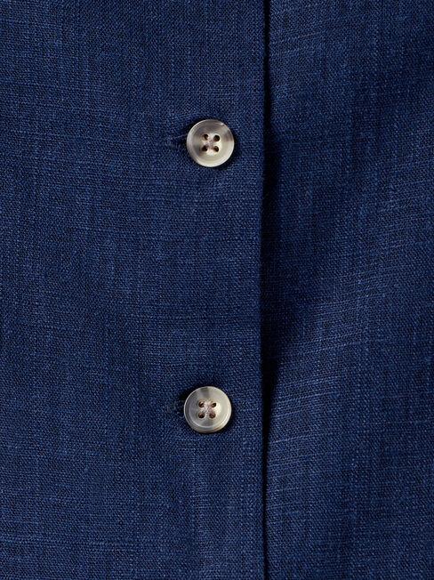 Jenny Button Thru Sleeveless Shirt, Blue, hi-res