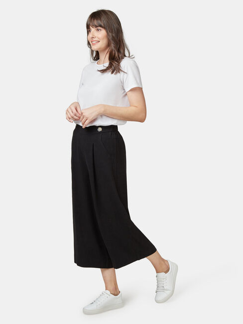 Ava Wide Leg Elastic Waist Pant