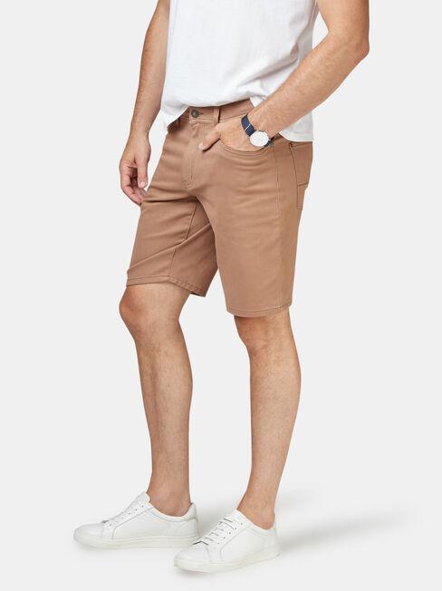 Oscar 5 Pocket Short, Brown, hi-res