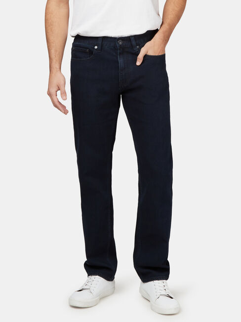 Straight Leg Jeans Coated Ink