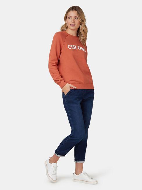 Viola Sweatshirt, Orange, hi-res