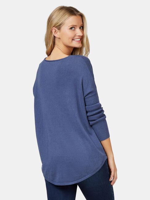 Mia Swing Pullover, Blue, hi-res