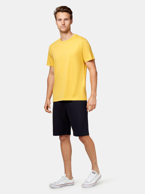 Pat Short Sleeve Basic Tee, Yellow, hi-res