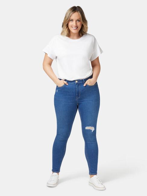 Valerie Curve Embracer Skinny 7/8 Jeans Mid Indigo, Mid Indigo, hi-res
