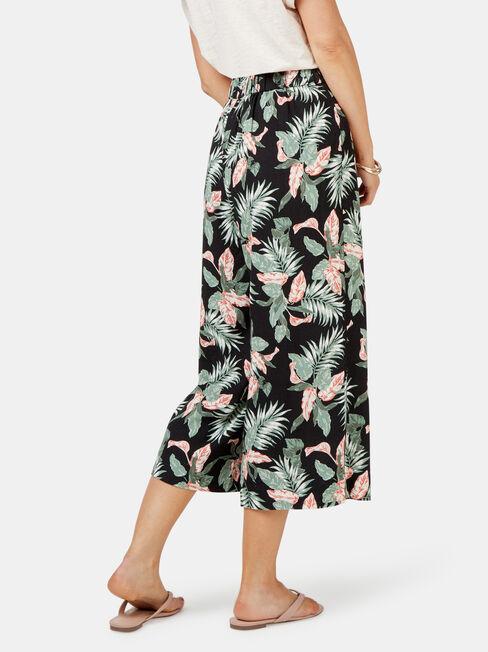 Naomi Wide Leg Crop Pant, Floral, hi-res