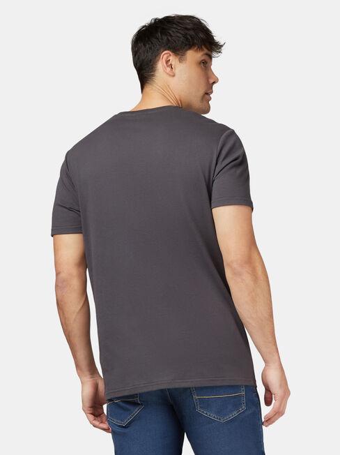 Torana LJ Short Sleeve Print Crew Tee, Grey, hi-res