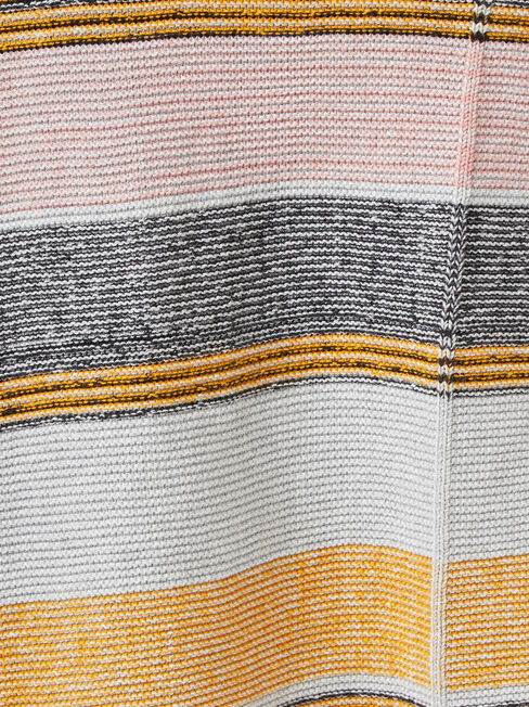 Coco Stripe Hem Cardi, Grey, hi-res