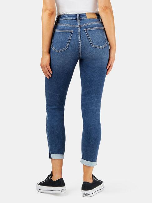 Louisa Slim Boyfriend Jeans Dark Indigo, Dark Indigo, hi-res