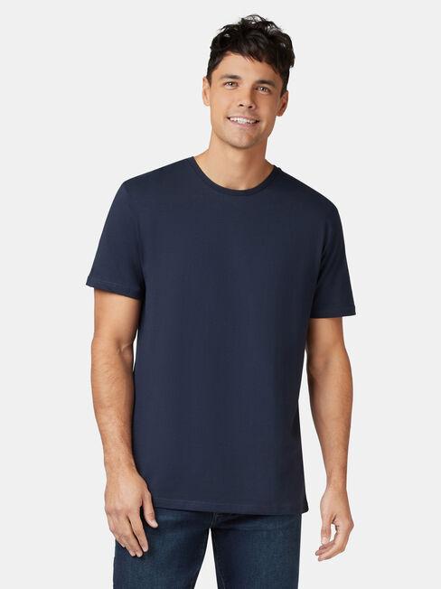 Basic Short Sleeve Tee, Blue, hi-res