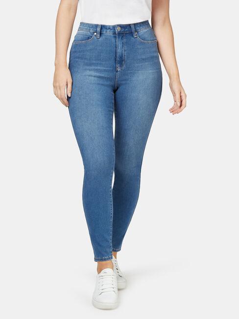 Freeform 360 Contour Curve Embracer Skinny 7/8 Jeans, Mid Indigo, hi-res