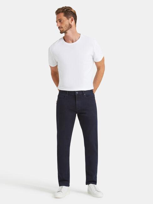 Slim Tapered Jeans Regular, Black, hi-res