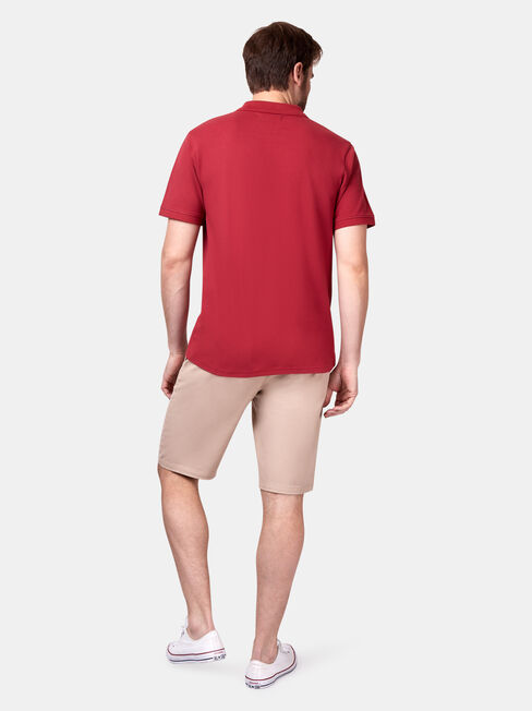 Jacob Short Sleeve Polo, Red, hi-res